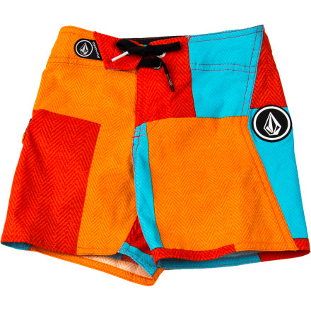 Surf The instant you pull out the Volcom Toddler Boys' Maguro Block Board Short, he gets super-excited. He knows it's time to hit the beach. - $29.37