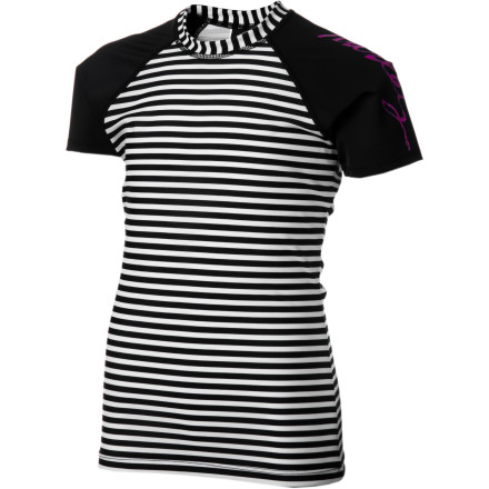 Surf Hurley Surfside Stripe Rashguard - Girls' - $33.95