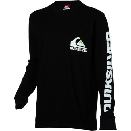 Surf Quiksilver Sweeper T-Shirt - Long-Sleeve - Boys' - $18.00
