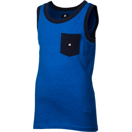 Skateboard When school finishes up and summer is in full swing, equip him with the DC Contra Boys' Tank Top and turn him loose. - $13.50
