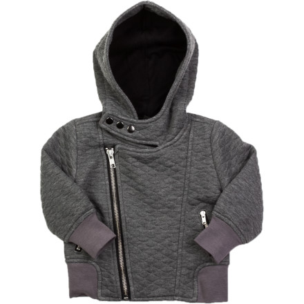 Just because your baby boy is little doesn't mean he can't rock big-boy style, and the A For Apple Infant Boys' Ben Biker Jacket lays down high-fashion urban style. Bundle him up in this zip-up hoodie when you want more than just another cute babyyou want a chic baby. - $49.03