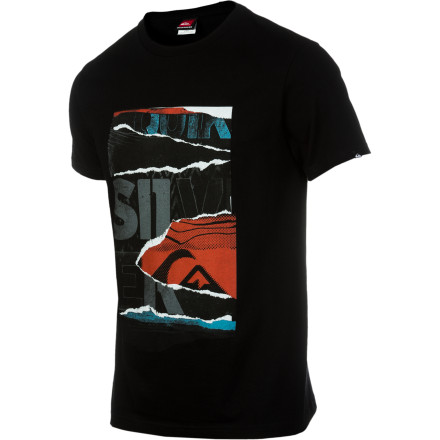 Surf Quiksilver Papercut T-Shirt - Short-Sleeve - Men's - $17.00