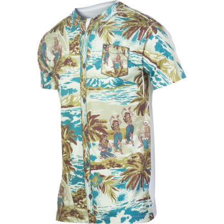 Surf Quiksilver Luau Slim T-Shirt - Short-Sleeve - Men's - $21.00