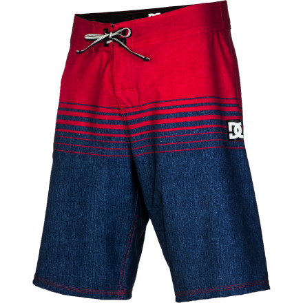 Surf Look your best even when you're at the pool or beach in the DC Banyan Men's Board Short. It has a subtle, yet stylish print on a four-way stretch fabric that won't hold you back whether you're chasing waves or chasing girls. - $41.65