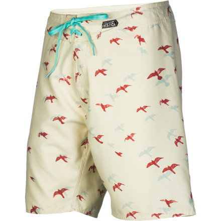 Surf When you can't take any more of the cold weather, pack up your Imperial Motion South Men's Board Short and head south where the water's warm and the beer's cold. The sueded polyester fabric will keep you comfort as you thaw out in the tropical sun. - $32.97