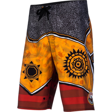 Surf Honor the people who fished your local waters long before you surfed them with the Quiksilver Wishtoyo Men's Board Short. Quiksilver partnered with the Wishtoyo foundation to create this stretchy, quick-drying board short featuring a native artwork print. A portion of the proceeds from sales of this piece go towards the Wishtoyo foundation to protect the heritage and culture of native coastal communities as well as the waters and marine habitats that support those communities. - $55.80