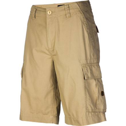Skateboard Flap-closure cargo pockets on the DC Deploy Men's Cargo Short give you extra room to stash beers when you're hitting up the outdoor concerts this summer. - $45.00