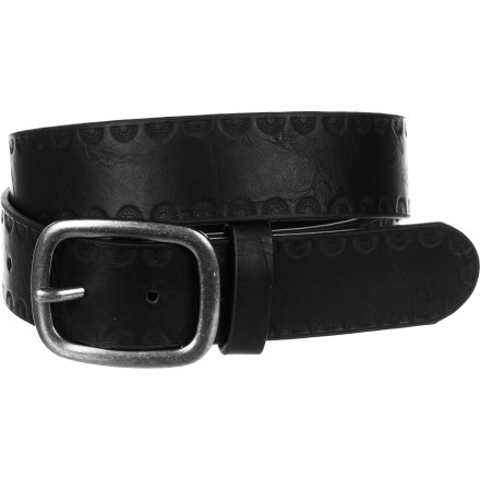 Sorry vegans, the Brixton Cerro Belt just isn't for you. 100% genuine leather with low-key riveted logo detailing. - $28.86