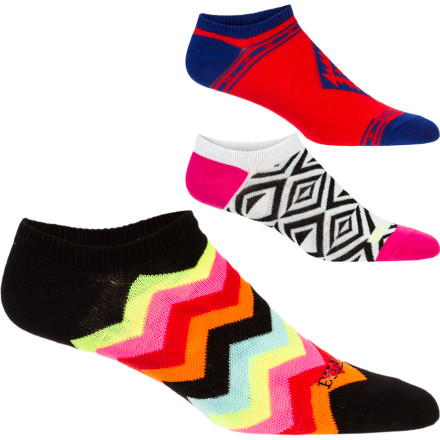 Surf Billabong Toe Jammin Ankle Sock - Women's - 3 Pack - $11.86