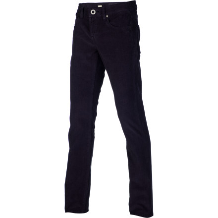 Skateboard These aren't your dad's corduroys. The Volcom Vorta Cord Men's Pant has a slim fit and is woven with stretch cord, making them ideal for skating or just sitting around being comfortable and looking cool. - $69.45