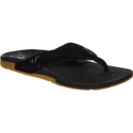 Surf Get custom comfort like you've never had in a sandal before with the Reef Reefarch-2 Men's Flip Flop. The cushy EVA midsole features an adjustable arch system that can be adjusted with an included key so you can dial in the perfect fit for your foot, and the EVA footbed has a honeycomb texture to allow air through so the soles of your feet aren't sweating into your sandals all day. - $51.96