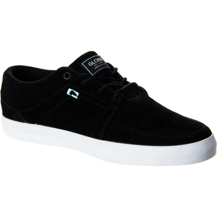 Skateboard Pounce on every skate spot in sight in the Globe Panther Men's Skate Shoe. Low-profile vulc construction and a thin suede upper allow for improved flex and feel so you can pull off tech tricks with precision that you won't get from the overly-padded clunkers that are on your feet now. - $55.96