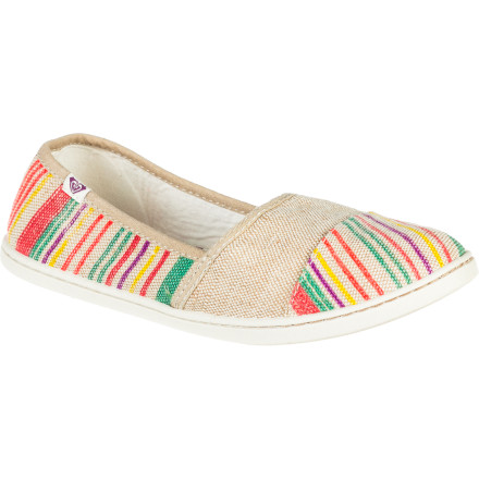 Surf The Roxy Women's Pier II Shoes keep your feet carefree and happy so you can stroll from the beach to the boardwalk and back all day long. - $32.00