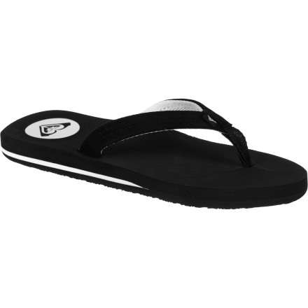 Surf Surf the sidewalk in stylie comfort with the Roxy Women's New Wave II Sandal. With a soft suede strap, comfy toe post, and molded EVA footbed with arch support, this flip-flop treats your foot right. And with its quality look, you'll level-up from the standard grungy thong. - $20.80
