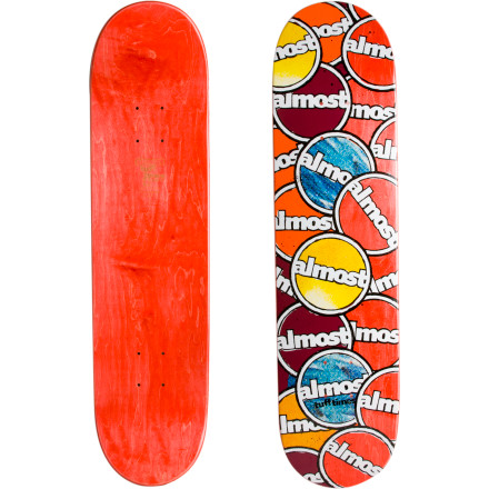 Skateboard When times get tough, the tough get going. Yeah, we never really understood that one either; what is easy to understand is that the Almost Tuff Times Skate Deck likes to get going  fast, when you skate with it. Okay, cue the sad trombone music. - $35.96