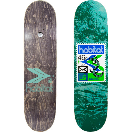Skateboard The Habitat Postage Redux Skate Deck does not automatically give you the ability to ollie over a mailbox. Trust us, we tried and it did not end well. But then again, we don't have pop like Stefan Janoski or Fred Gall. - $39.96