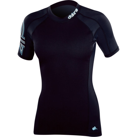 Surf Ladies, unless you want your skin to look all leathery and wrinkly years from now, we suggest you put on the DAKINE Women's Neo Insulator Rashguard if you're going to spend hours in the surf. Its 1.5mm of neoprene helps keep you warm in cold water, and its UPF 50-rated fabric protects your skin from the sun's nasty rays so you don't end up looking like leather-woman years down the road. A side back bottom zipper closure helps make the Neo easy to get on and off so you're not struggling with the Neo off you're worn out from the waves. - $33.56