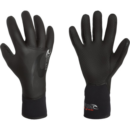 Surf It may be summer, but since the water still freezes your fingers within minutes, you slip on the Rip Curl Flash-Bomb 3/2 5 Finger Glove for its warmth and dexterity during sessions in cold-water swells. - $31.47