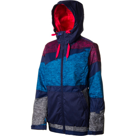Snowboard Zip up in your Roxy Women's Valley Hooded Jacket and make the early-morning pilgrimage to the mountain for some personal time between you and the snow. This hoodie-look jacket helps you reconnect with the white stuff from the park to the groomers. - $99.00