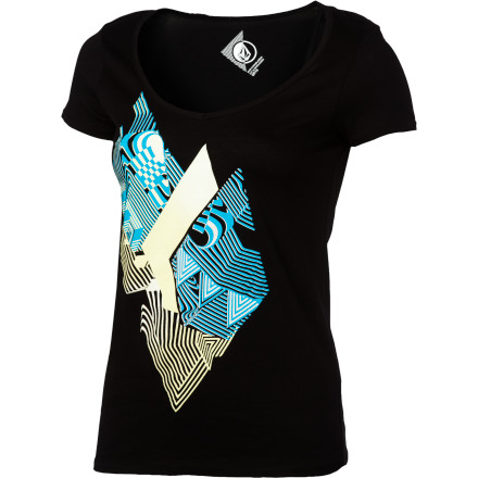 Surf Volcom Litter Stone Slim V-Neck T-Shirt - Short-Sleeve - Women's - $15.37