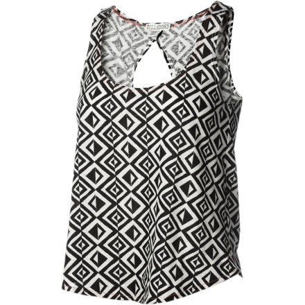 Surf The soft, smooth Billabong Women's Sandy Hair Tank Top takes a summer staple and sasses it up with a keyhole back and funky screen print for fun, everyday style. - $26.51