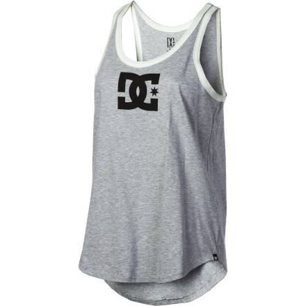 Skateboard Get back to your logo-loving roots with the DC Women's Star Seventies Tank Top. Its vintage athletic style, with loose fit and racer back, puts you at instant sporting ease. And its super-soft blend jersey soothes your old soul. - $21.60