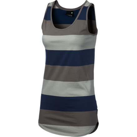 Surf The boldly striped Nixon Women's Hijack Tank Top can hang on the beach or the street with equal authority. Made from yarn-dye cotton, this top always feels down-home good and everyday appropriate. - $29.95