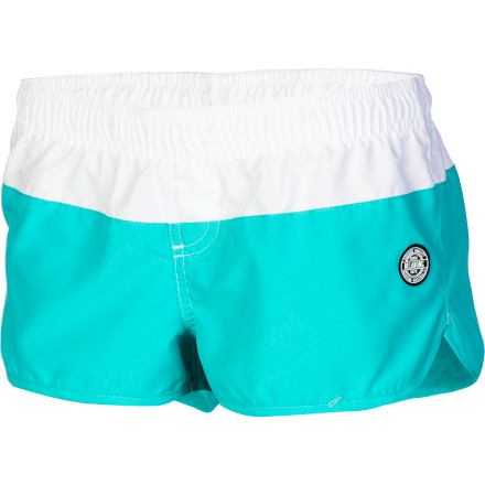 Surf Wear the Billabong Women's Ollie 2in Board Short when you want a little more coverage for intense surf session but you don't want to skimp on style. - $25.03