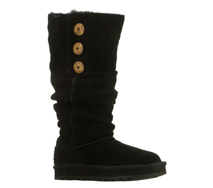Fitness Chilly days are the perfect time to shine in the SKECHERS Keepsakes - Brrrr boot.  Soft all suede upper in a tall mid calf height slip on casual cool weather boot with stitching accents; slouched shaft and faux fur lining. - $59.50
