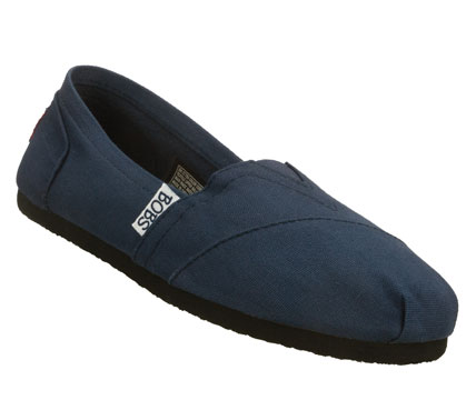 Look great and feel happy in the SKECHERS BOBS-Earth Day shoe.  Soft canvas fabric upper in a slip on casual flat shoe with stitching accents. - $36.00