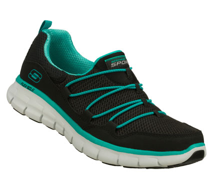 Improve your outlook with fun sporty comfort in the SKECHERS Synergy - Loving Life shoe.  Smooth faux leather and mesh fabric upper in a slip on sporty walking sneaker with FlexSole and Memory Foam Plus insole. - $65.00