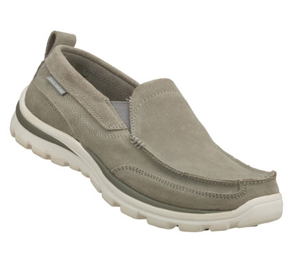 Entertainment Keep your style up to speed with the SKECHERS Relaxed Fit: Superior - Pace shoe.  Soft suede upper in a slip on dress casual loafer with stitching and overlay accents. - $65.00