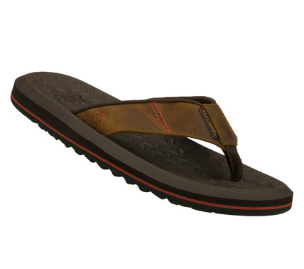 Surf Spend all your warm weather days in style with the SKECHERS Tantric - Zoltan sandal.  Smooth oiled leather upper in a flip flop casual thong sandal with stitching accents and light flexible sole. - $45.00