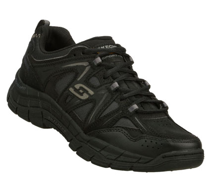 Give a new meaning to perfectly fit in the SKECHERS Relaxed Fit: Rig shoe.  Smooth leather; synthetic and cordura mesh fabric upper in a lace up athletic trail sport sneaker with stitching and overlay accents. - $68.00