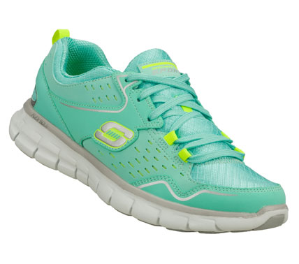 Achieve the very best in sporty style and comfort with the SKECHERS Synergy - A Lister shoe.  Leather; synthetic and ripstop fabric upper in a lace up athletic sporty training sneaker with stitching; overlay and perforation accents. - $65.00