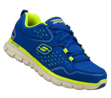 Fitness Enjoy the light; flexible sporty style of the SKECHERS Synergy - Immunity shoe.  Smooth trubuck leather; synthetic and mesh fabric upper in a lace up athletic running and training sneaker with stitching; overlay and perforation accents. - $60.00