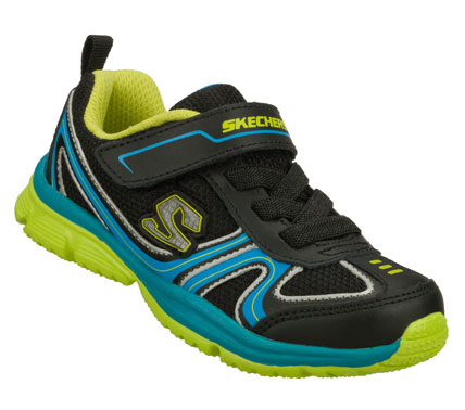 Little guys get quicker with the SKECHERS Speedees - Valt shoe.  Smooth leather; synthetic and mesh fabric upper in a slip on sporty athletic sneaker with stitching and overlay accents. - $35.00