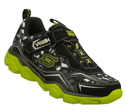He'll be unstoppable wearing the SKECHERS Serrated - Terrainz shoe.  Smooth leather and mesh fabric upper in a slip on athletic training sneaker with stitching and overlay accents. - $40.00