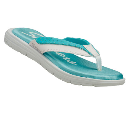 Surf Make lasting experiences better with the SKECHERS Cali Sole Searchers - Good Memory sandal.  Smooth synthetic upper in a two tone sporty flip flop thong sandal with Memory Foam Plus comfort footbed. - $35.00