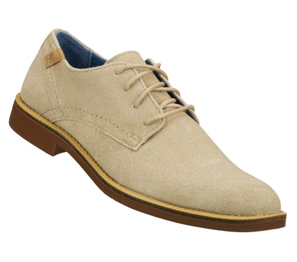Entertainment Drink in the compliments wearing the Mark Nason SKECHERS Bartime shoe.  Soft suede upper in a lace up dress casual plain toe oxford with color accented topsole. - $79.00
