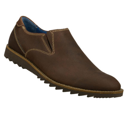 Entertainment Smooth out all the details wearing the Mark Nason SKECHERS Claro shoe.  Smooth lightly buffed leather upper in a slip on dress casual loafer with stitching and overlay accents. - $79.00
