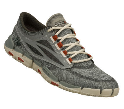 Fitness GO with a throwback look and feel with the Gym Pack limited edition Skechers GObionic.  Features unique heathered mesh upper in special classic gray color.  Zero-drop; ultra-minimal design with innovations inspired by biomechanics of the human body. - $80.00
