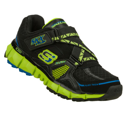Smarten up his sporty look with the SKECHERS X 2.0 - Wit shoe.  Smooth leather; synthetic and mesh fabric upper in a cross strap front athletic sporty training sneaker with stitching and overlay accents. - $44.00