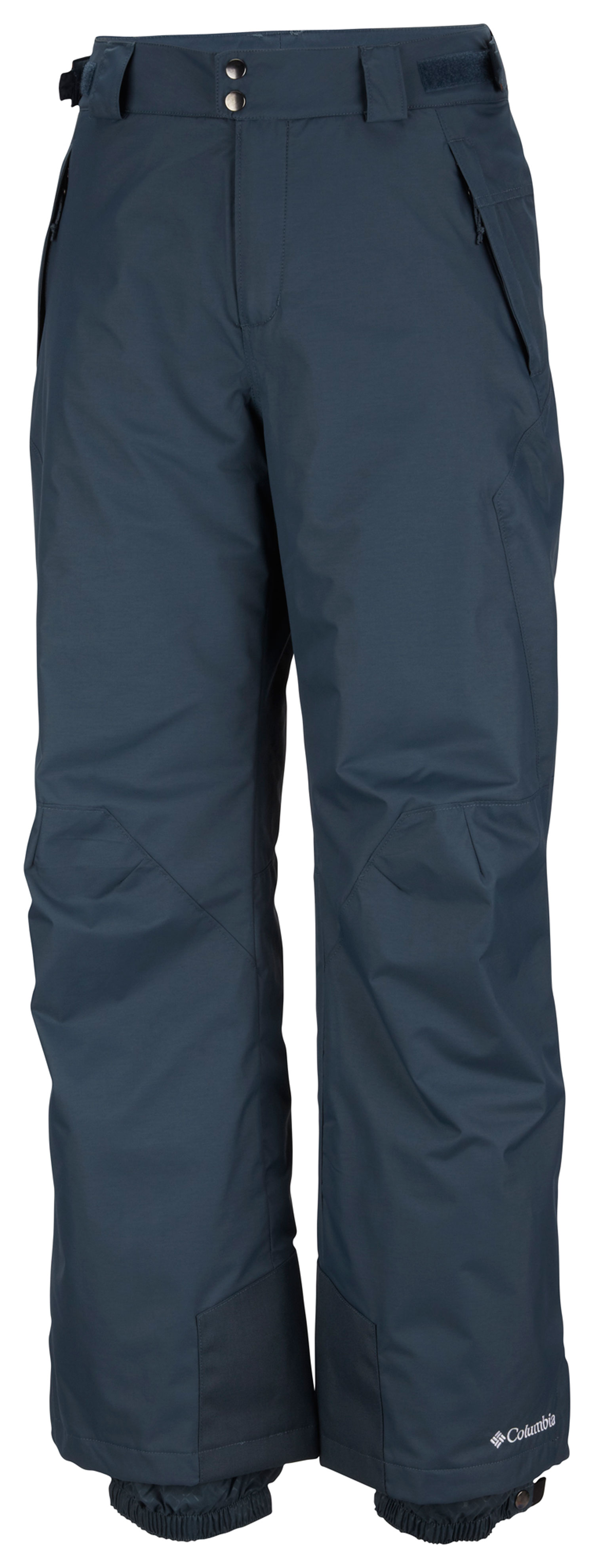 Ski Key Features of the Columbia Bugaboo II Ski Pants: FABRIC Shell: 100% nylon Legacy twill, 100% polyester. Lining: 100% polyester tricot. Insulation: 100% polyester 40g Microtemp insulation. FIT Modern Classic Omni-Tech™ waterproof/breathable critically seam sealed Adjustable waist tabs Internal adjustable leg gaiter Exterior adjustable waist Reinforced cuff guard Articulated knees - $66.95