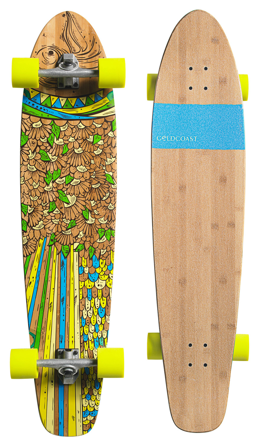 "Skateboard Key Features of the Goldcoast Snapper Longboard Skateboard Complete: 44"" Long x 9.5"" Wide, 24"" Wheelbase 7 ply Bamboo/Maple Construction Die Cut Grip Tape Big Slicks, 75mm 78a Century 159mm Regular Pivot Trucks 90a Bushings Century .25"" Flat Risers Genuine GoldCoast ABEC 7 Bearings - $159.95"
