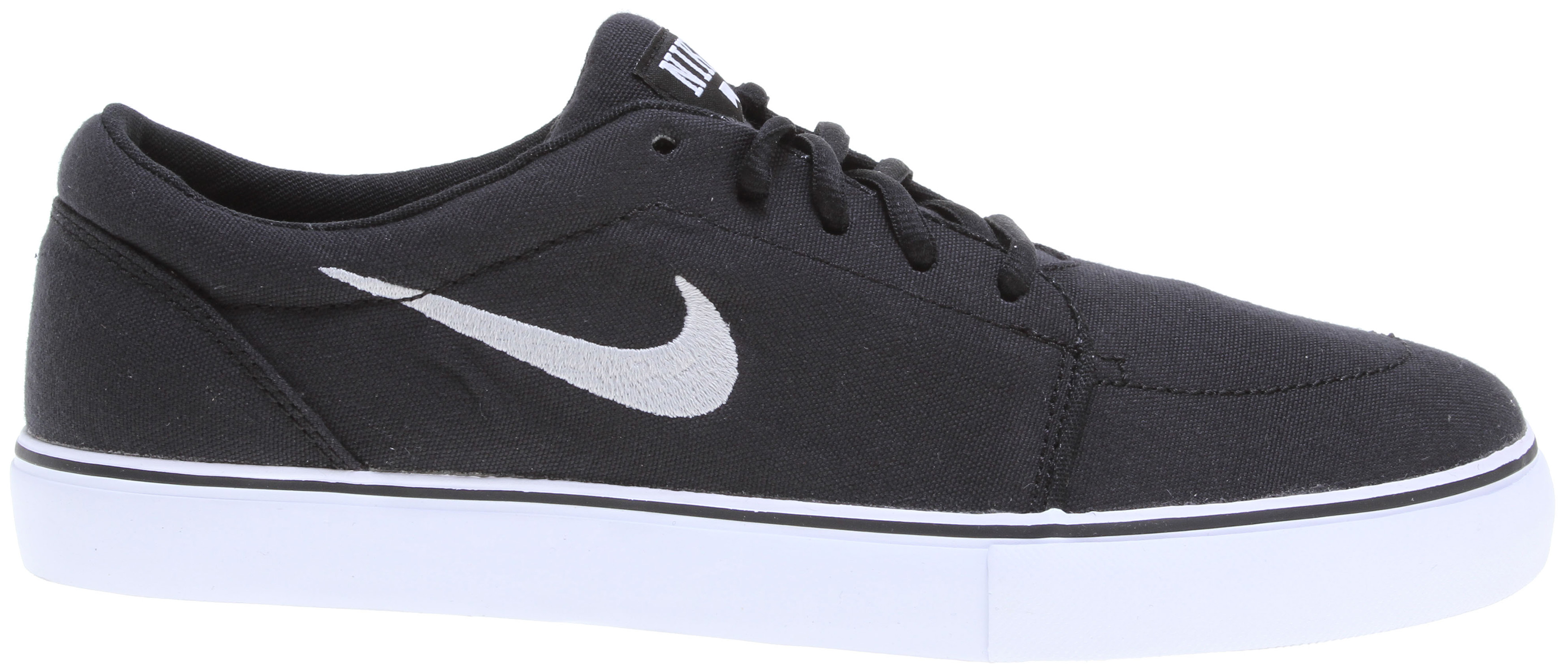 Skateboard Classic minimal skate silhouette. Key Features of the Nike Satire Canvas Skate Shoes: Suede, leather, and Nubuck materials. Vulcanized construction for comfort and boardfeel. Flexible vulcanized construction with a tacky gum rubber outsole. - $62.00