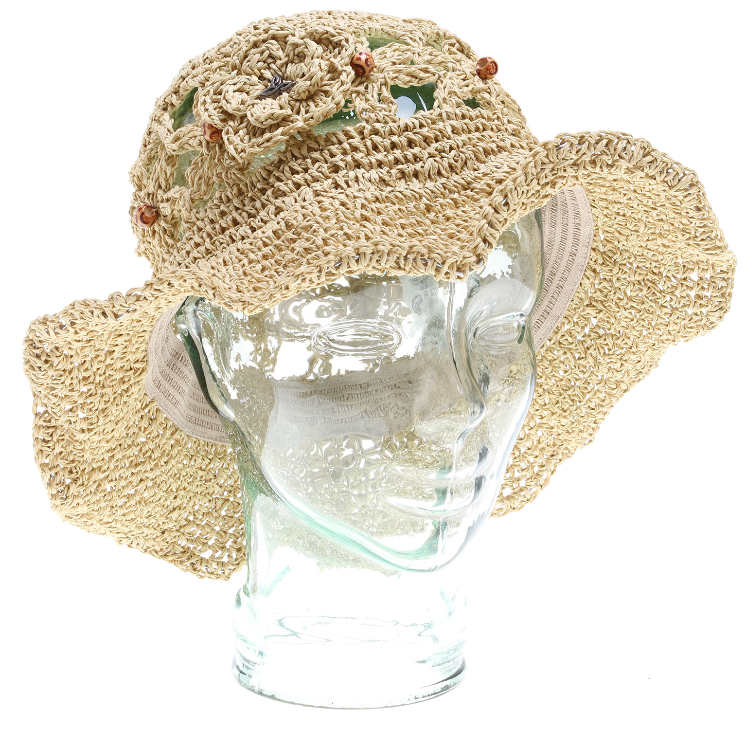 Key Features of the Prana Julsie Cowboy Hat: 100% Paper straw wide brimmed hat Wiring in brim for flexibility and versatility in styling (cowboy hat) Self flower appliques with wooden bead detail Standard fit - $34.95