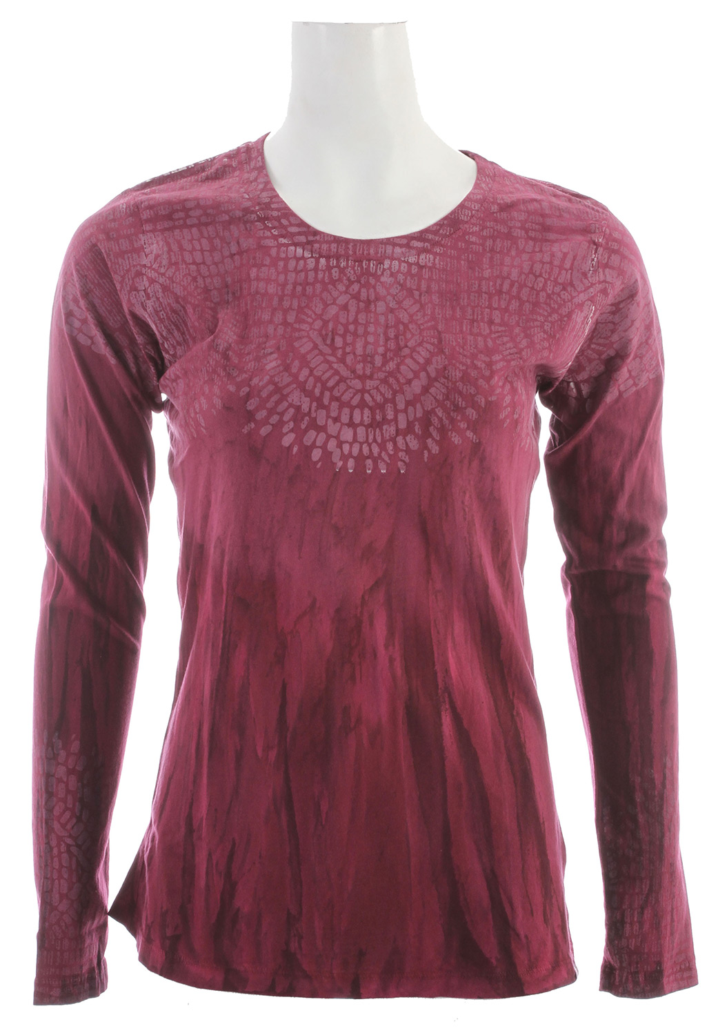 "Free and artistic spirits will appreciate the creative color variation of the lightweight Sublime Top. A unique dying process means no two will be the same.Key Features of the Prana Sublime Top: Lightweight jersey Novelty ""Rain Wash"" garment dye treatment Placement mosaic print at chest and sleeve hem Crew neck 100% Organic Cotton - $35.95"