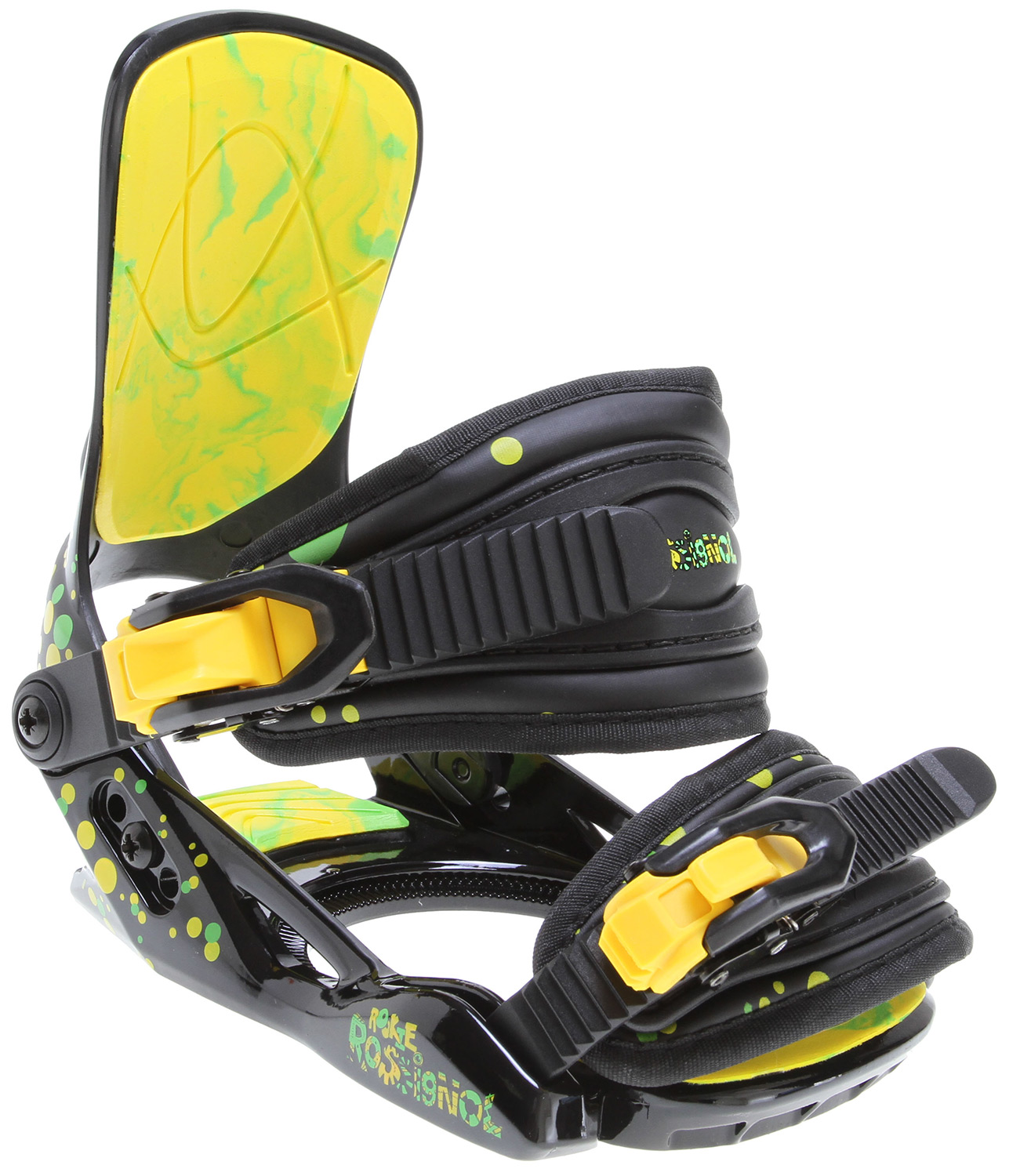 Snowboard Like the rider they are built for the Rookie is small in size but packs big-time swagger. The Rookie steps up to the plate with all the performance and comfort little groms need to take their riding to the pros.* NHC Baseplate * Free Back Highback * 2D Rookie Straps * EVA Footbed - $54.95