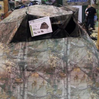 NAH's Online Editor J. Dahlke Hunting had a chance to get a firsthand look at the new Ameristep Quality Hunting Razor Blind at SHOT SHOW   See it for yourself here: http://bit.ly/Vlstf8